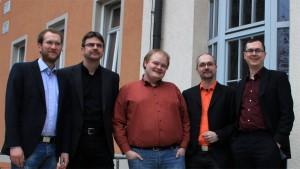 Der Vorstand 2013: (von rechts nach links) Thomas Wöllecke, Frank Cebullar, Robert Machnik, Bastian Ebert, Wieland Rose